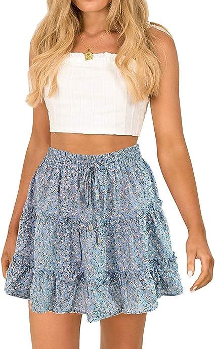 cute blue boho skirt
