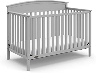 Graco Benton 4-in-1 Convertible Crib, Pebble Gray, Solid Pine and Wood Product..