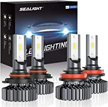 SEALIGHT 9005/HB3 H8/H11 LED Headlight Bulbs, 13000LM High Low Beam, Combo Package CSP..
