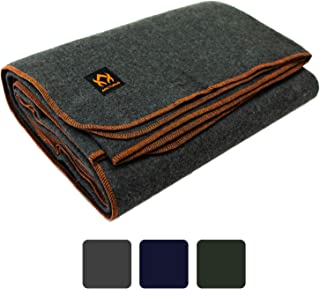 """Arcturus Military Wool Blanket – 4.5 lbs, Warm, Thick, Washable, Large 64"""" x.."""