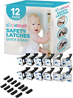 Cabinet Locks Child Safety Latches – Quick and Easy Adhesive Baby Proofing Cabinets..