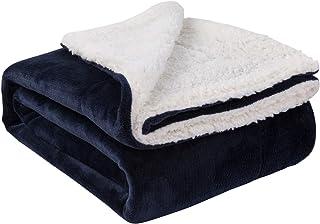 Nanpiper Sherpa Blanket, Super Soft Fuzzy Flannel Fleece/Wool Like Reversible Velvet..