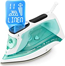 BEAUTURAL Steam Iron with LCD Display, 11 Preset Temperature and Steam Settings for..