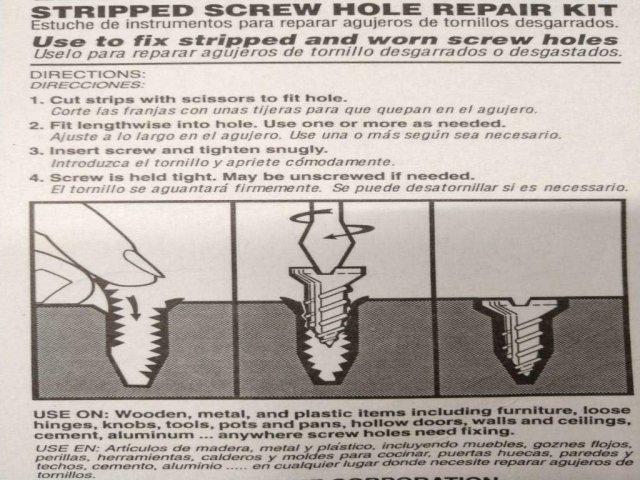 Woodmate 133 Mr. Grip Screw Hole Repair Kit Steel 13 Piece