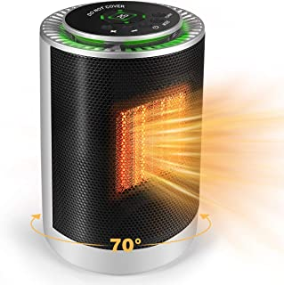 Electric Space Heater, 1200W PTC Portable Small Mini Quiet Space Heater with Thermostat..