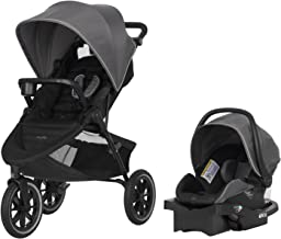 Evenflo Folio3 Stroll & Jog Travel System w/LiteMax 35 Infant Car Seat, Crossover..