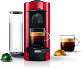 Nespresso by De'Longhi VertuoPlus Coffee and Espresso Machine by De'Longhi, Red