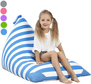 Aubliss Stuffed Animal Storage Bean Bag Chair Cover for Kids, Girls and Adults, Beanbag..