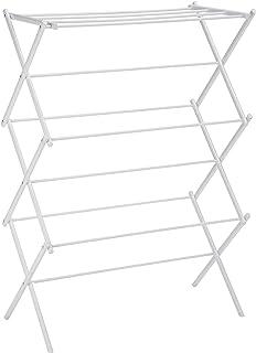 AmazonBasics Foldable Clothes Drying Laundry Rack – White