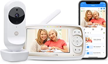 """Motorola Connect20 Video Baby Monitor – 4.3"""" Parent Unit and Wi-Fi Viewing for.."""