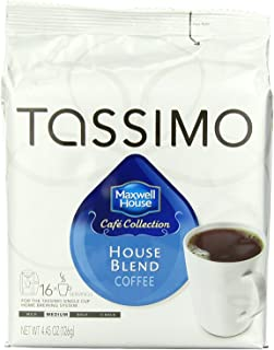 Maxwell House Cafe Collection House Blend Medium Roast Coffee T-Discs for Tassimo Brewing..