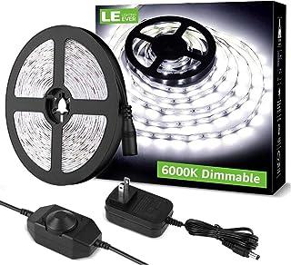 LE LED Strip Light White, 16.4ft Dimmable Vanity Lights, 6000K Super Bright LED Tape..