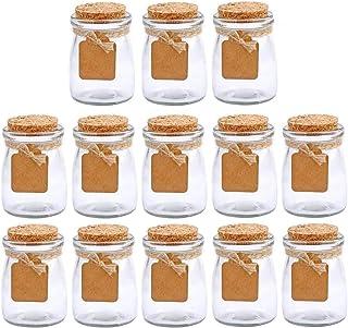 Brajttt 30Pcs Glass Favor Jar With Cork Lids,Multifunctional,Great Decoration(100 ML,3.4OZ)