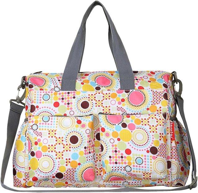 Happy Cherry - Bolsa Maternal Pañales Cambiadores Bolso Maternidad de mano Bandolera para Carrito Carro Mamás Madres Bebés con gran capacidad - Multicolor3