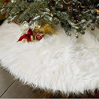 AISENO 48 Inch Christmas Tree Plush Skirt Decoration for Merry Christmas Party Faux Fur..