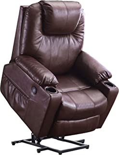 Mcombo Electric Power Lift Recliner Chair Sofa with Massage and Heat for Elderly, 3..