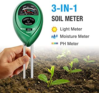 Atree Soil pH Meter, 3-in-1 Soil Tester Kits with Moisture,Light and PH Test for Garden,..