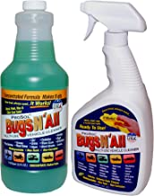 Bugs N All – Multi-Surface Vehicle Cleaner / Bug Remover. 1qt. Concentrate Makes 8..