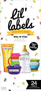 Bottle Labels, Write-On, Self-Laminating, Waterproof Kids Name Labels for Baby Bottles,..
