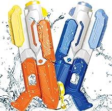 ToyerBee Water Gun for Kids, Squirt Guns of 2 Packs, 1200CC High Capacity & 35 Feet..