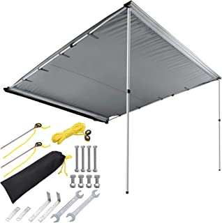 Yescom 7.6'x8.2' UV50+ Car Side Awning Rooftop Pull Out Tent Shade Shelter..