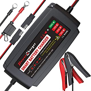 BMK 12V 5A Smart Battery Charger Portable Battery Maintainer with Detachable Alligator..