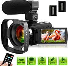 Ultra HD Video Camera Camcorder with Microphone 1080P 30FPS 24MP Vlogging Digital Camera..