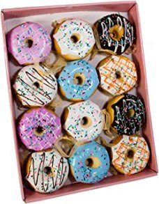 Kurt Adler Donut Ornament (Set of 12), 2.75""