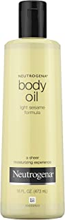 Neutrogena Lightweight Body Oil for Dry Skin, Sheer Body Moisturizer in Light Sesame..