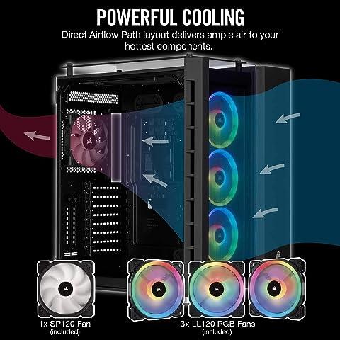 Corsair Crystal 680X RGB Tempered Glass 3つのRGBファンで冷却