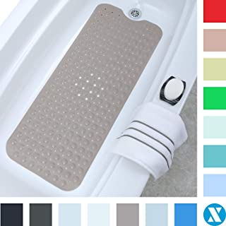 SlipX Solutions Tan Extra Long Bath Mat Adds Non-Slip Traction to Tubs & Showers..