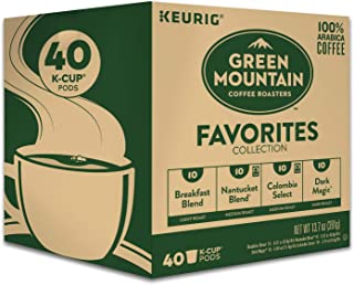 Keurig Green Mountain Coffee Roasters Favorites Collection Variety Pack, Single-Serve..