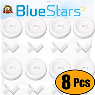 Ultra Durable WD35X21038 Dishwasher Lower Rack Roller Wheel and Stud Kit by Blue Stars..
