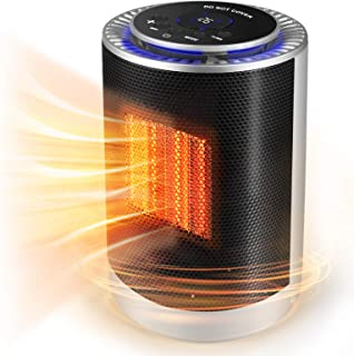 KoolaMo Portable Oscillating Space Heater, Electric Ceramic Heater Desk Heater with..