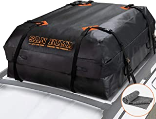 SANHIMA Roof Cargo Carrier Bag – (15 Cubic Feet) Heavy Duty Roof Bag with Anti-Slip..