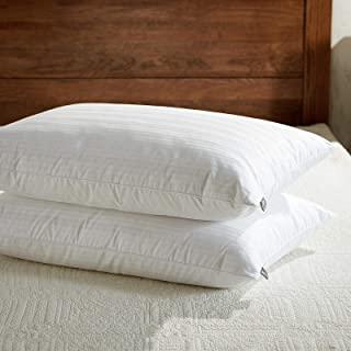 downluxe Goose Feather Down Pillow – Set of 2 Bed Pillows for Sleeping with Premium..