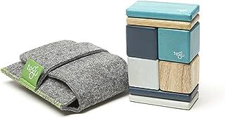 8 Piece Tegu Pocket Pouch Magnetic Wooden Block Set, Blue