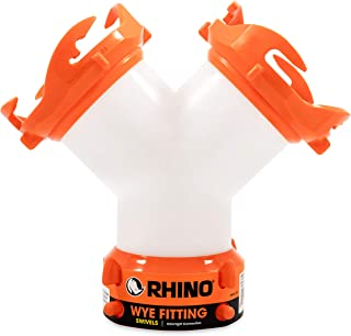 Camco RhinoFLEX RV Wye Fitting with 360 Degree Swivel Ends, Allows Sewer Hose and Lug..