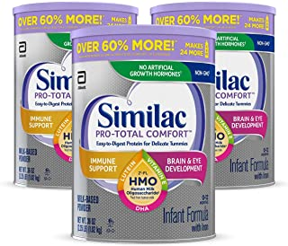 Similac Pro-Total Comfort Non-GMO with 2'-FL HMO Infant Formula with Iron,..