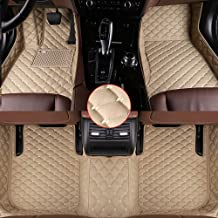 muchkey Leather Car Mats Carpet For Cars Beige Car Floor Mats Fit For BMW 7 Series..
