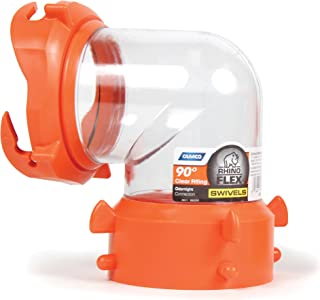 Camco 39857 RhinoFLEX Clear 90 Degree Sewer Hose Swivel Fitting