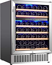 Wine Cooler Dual Zone, Aobosi 24 inch 51 Bottle Wine refrigerator Built-in or..