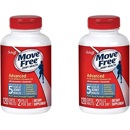 Move Free Advanced Plus Msm And Vitamin D3 Joint Health Supplement With Glucosamine And Chondroitin 120 Ea (Pack Of 2)