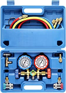3 Way AC Diagnostic Manifold Gauge Set for Freon Charging, Fits R134A R12 R22 and R502..