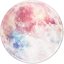 BOSOBO Mouse Pad with Design, Small Round Planet Mouse Pad, Stitched Edge, Enhanced..