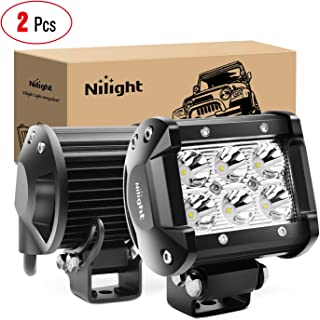 Nilight – 60001SB Led Pods 2PCS 18W 1260LM Spot Led Off Road Lights Super Bright..