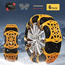 soyond Snow Chains Car Anti Slip Snow Tire Chains Adjustable Anti-Skid Chains Car Tire..