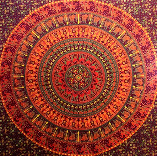Camel Elephant Mandala Tapestry Hippie Tapestry Mandala Tapestry Wall Hanging Wall Decor Home Decor...