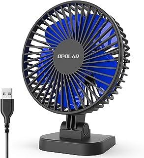 OPOLAR USB Desk Fan, Small but Mighty, Quiet Portable Fan for Desktop Office Table, 40°..
