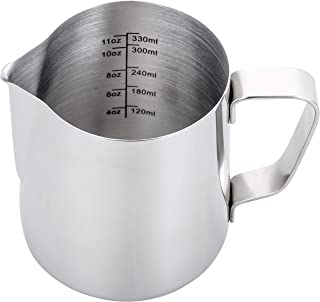 Espresso Steaming Pitcher 12 oz,Espresso Milk Frothing Pitcher 12 oz,Coffee Milk Frothing..